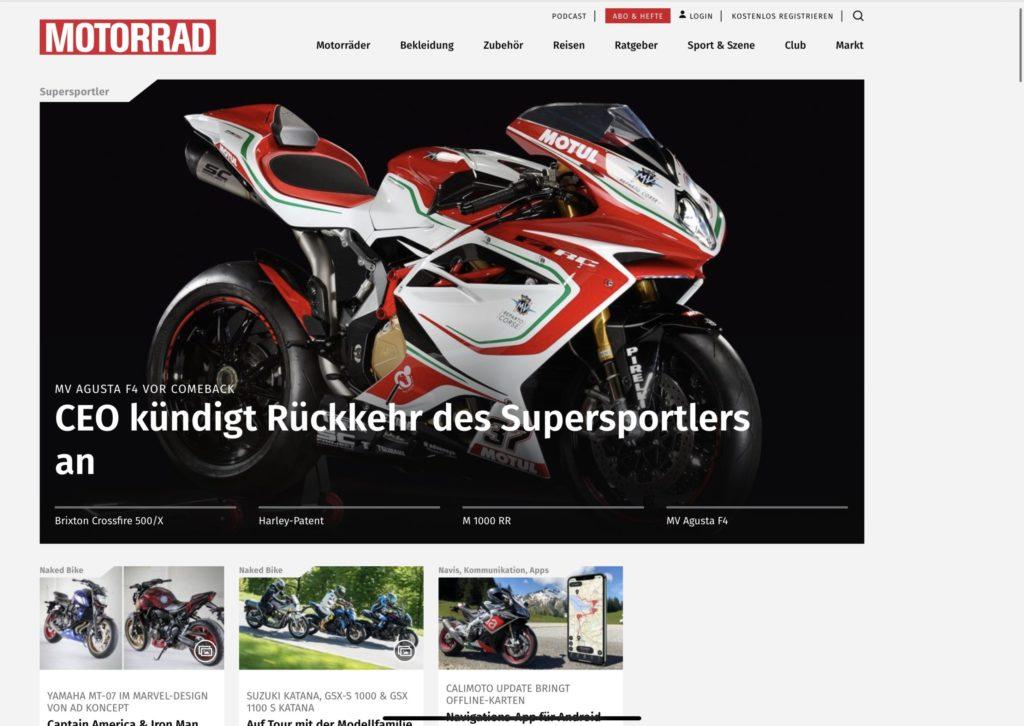Externer Link zu Motorrad
